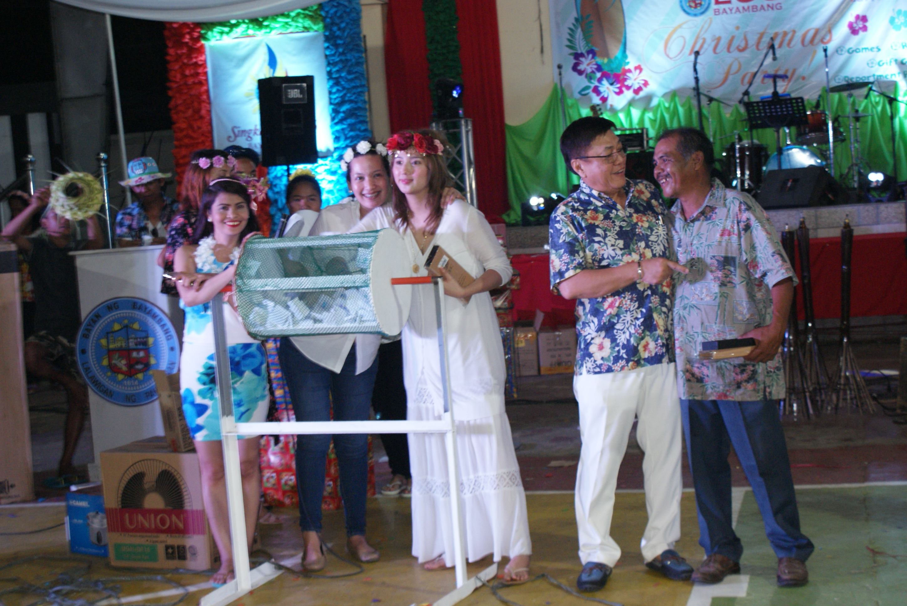 LGU Goes Hawaiian in its 2016 Christmas Party