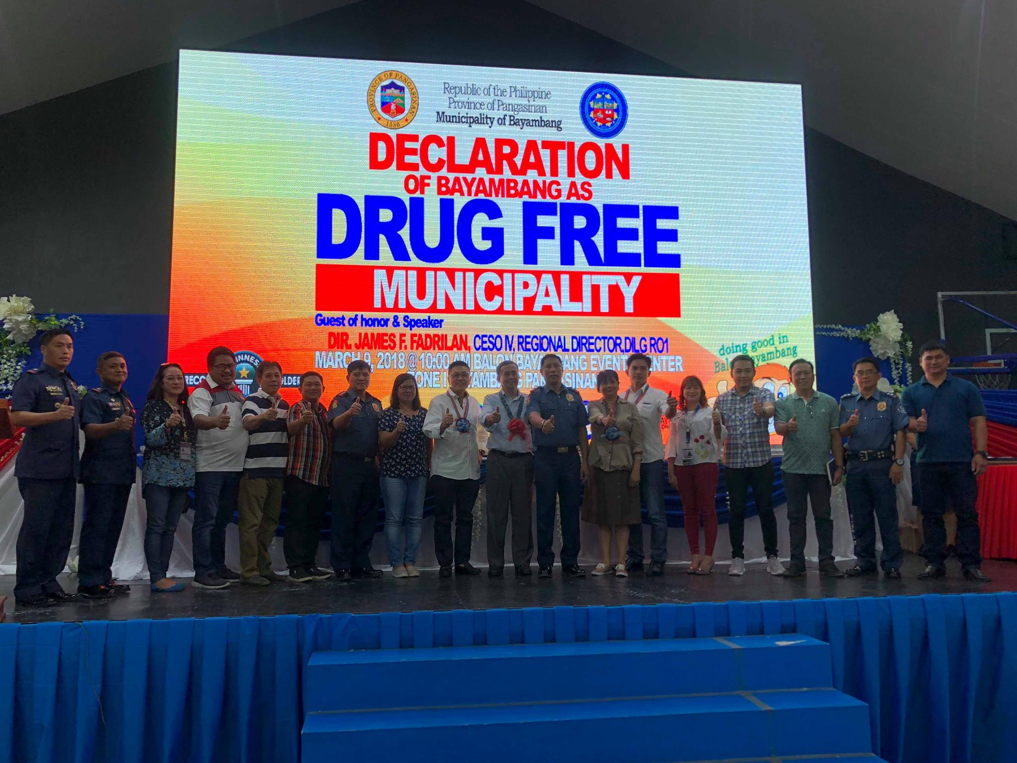Municipality's 77 barangays declared as drug-cleared