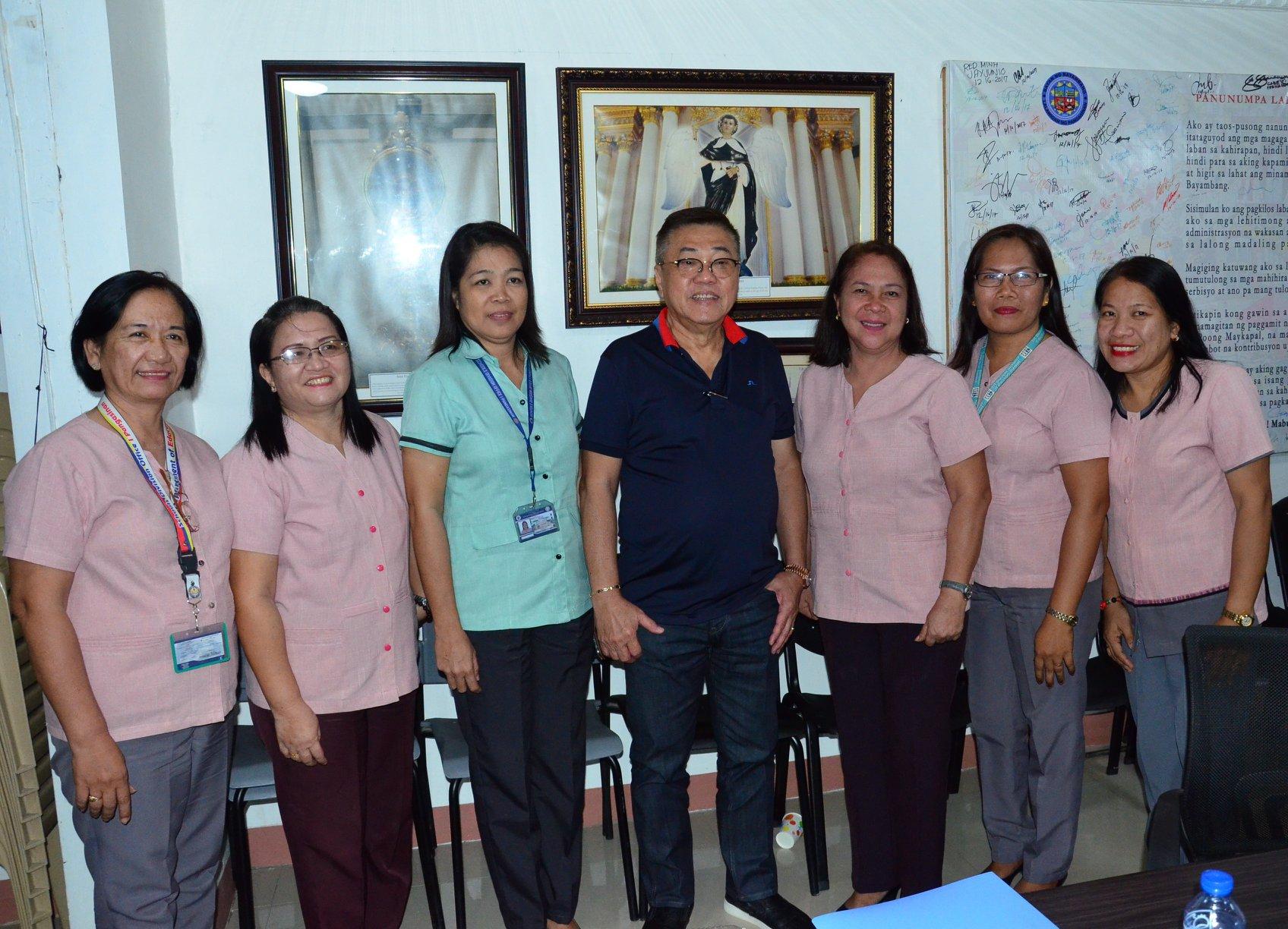 Bagong PSDS Dr. Diana C. Baguio at Bagong Lipat na Principal ng DepEd Bayambang II, Nag-Courtesy Call kay Mayor CTQ, 7.3.2019