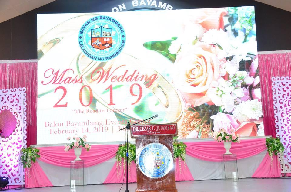 Naganap ang isa na namang Kasalang Bayan sa Balon Bayambang Events Center, noong ika-14 ng Pebrero, 2019.