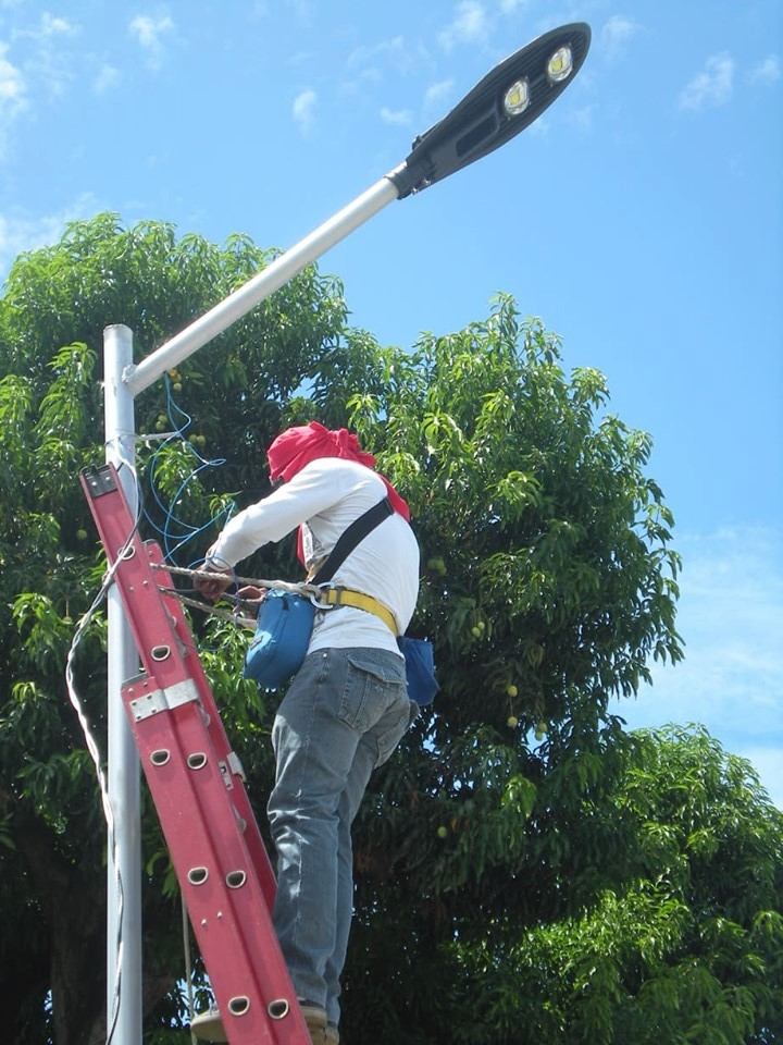 On-going Installation of Street Lights along National Road