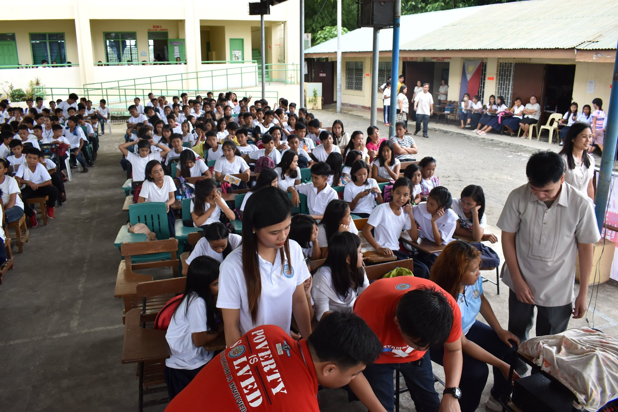BPRAT's Anti-Bullying, Anti-Child Labor Campaign is Brought to Moises Rebamontan NHS