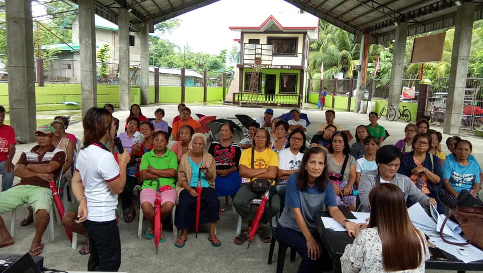 RHU II Conducts IEC on Non-Communicable Disease, Dengue and TB DOTS at Brgy. Inirangan Plaza