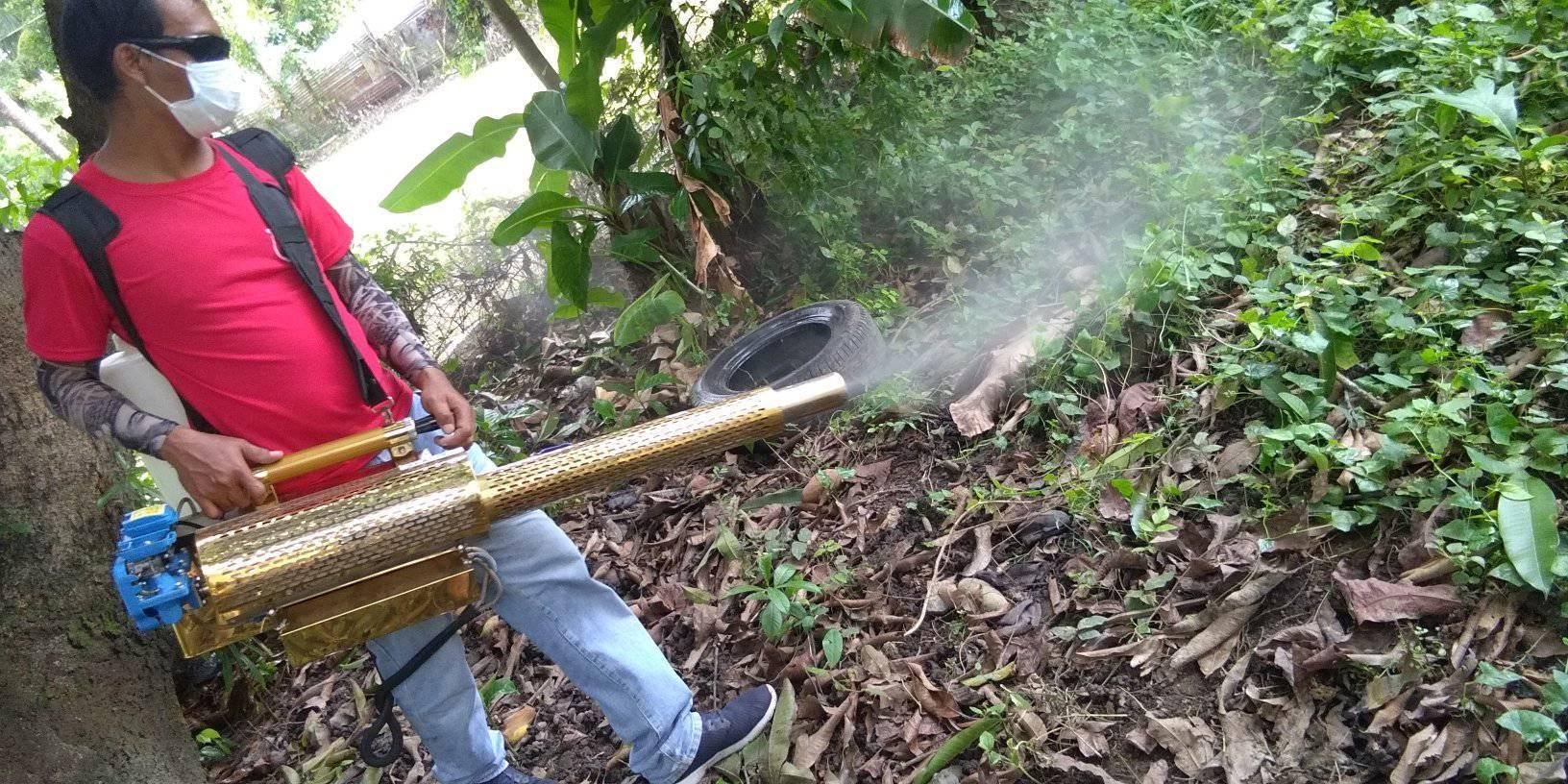 RHU I Team Continues its Fogging Operation in Barangay Pantol and Buayaen