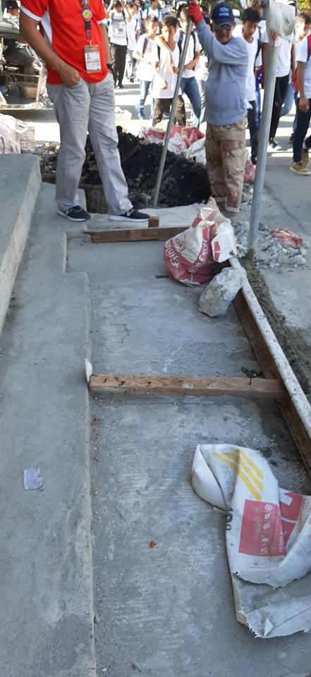 ONGOING – Rehabilitation of Walkway along Quezon Blvd. cor. Magsaysay St