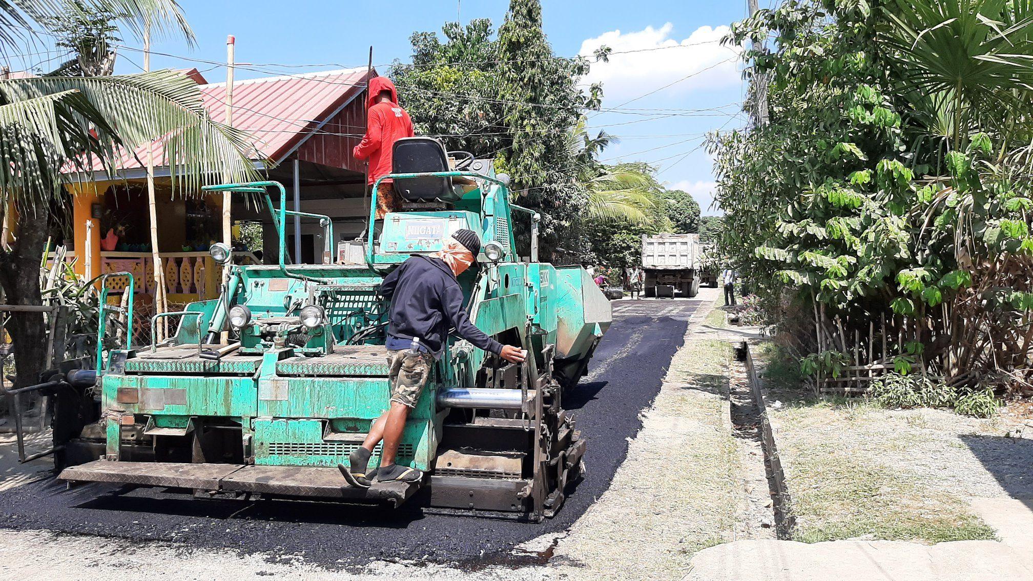 Road asphalting in Brgy. Hermoza, Telbang, and MH Del Pilar