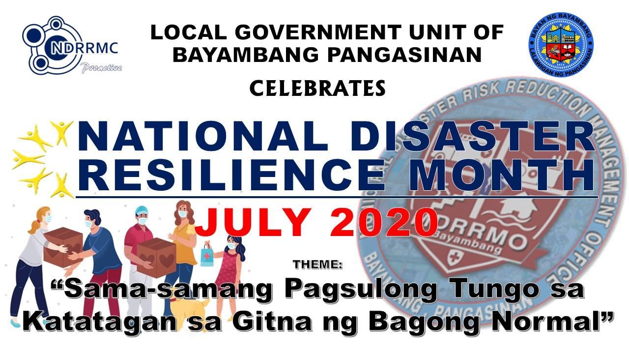 National Disaster Resilience Month 2020 Sama-samang Pagsulong Tungo sa Katatagan sa Gitna ng Bagong Normal