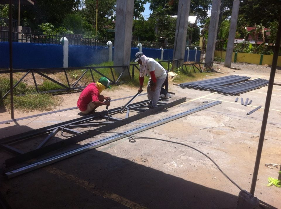 Construction of Covered Court in Brgy. Bongato West