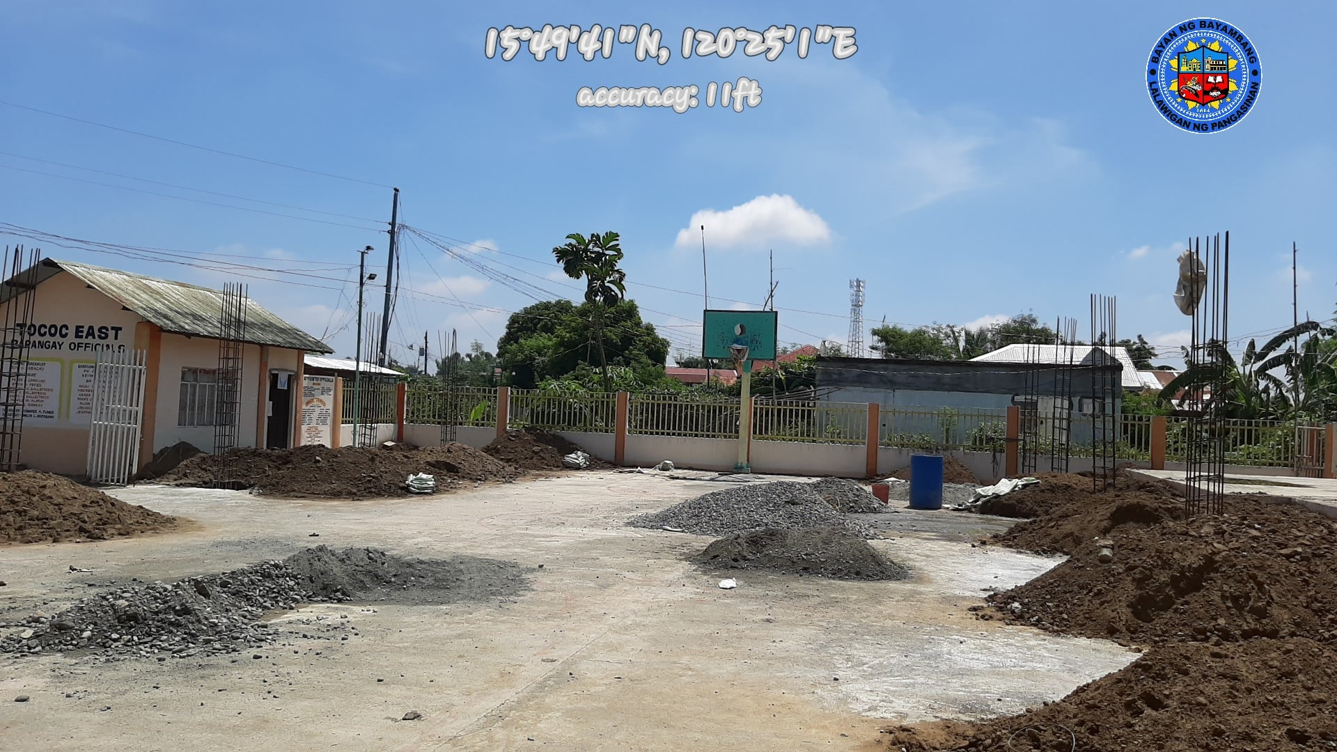 ONGOING  Construction of Multi-Purpose Covered Court in Brgy. Tococ East