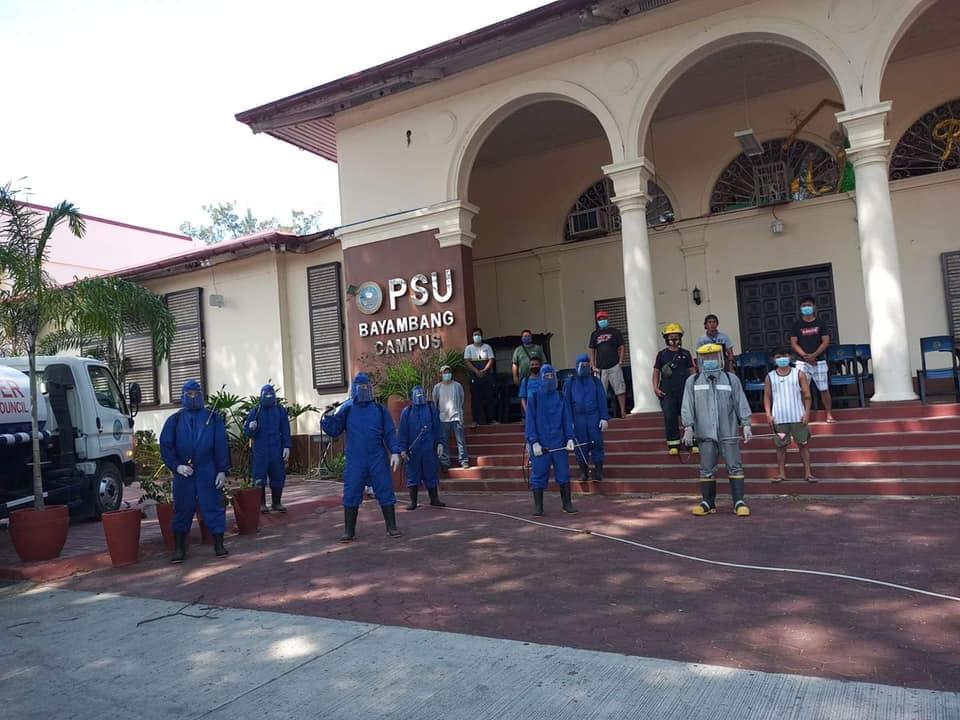 MDRRMO Disinfects PSU-Bayambang Campus