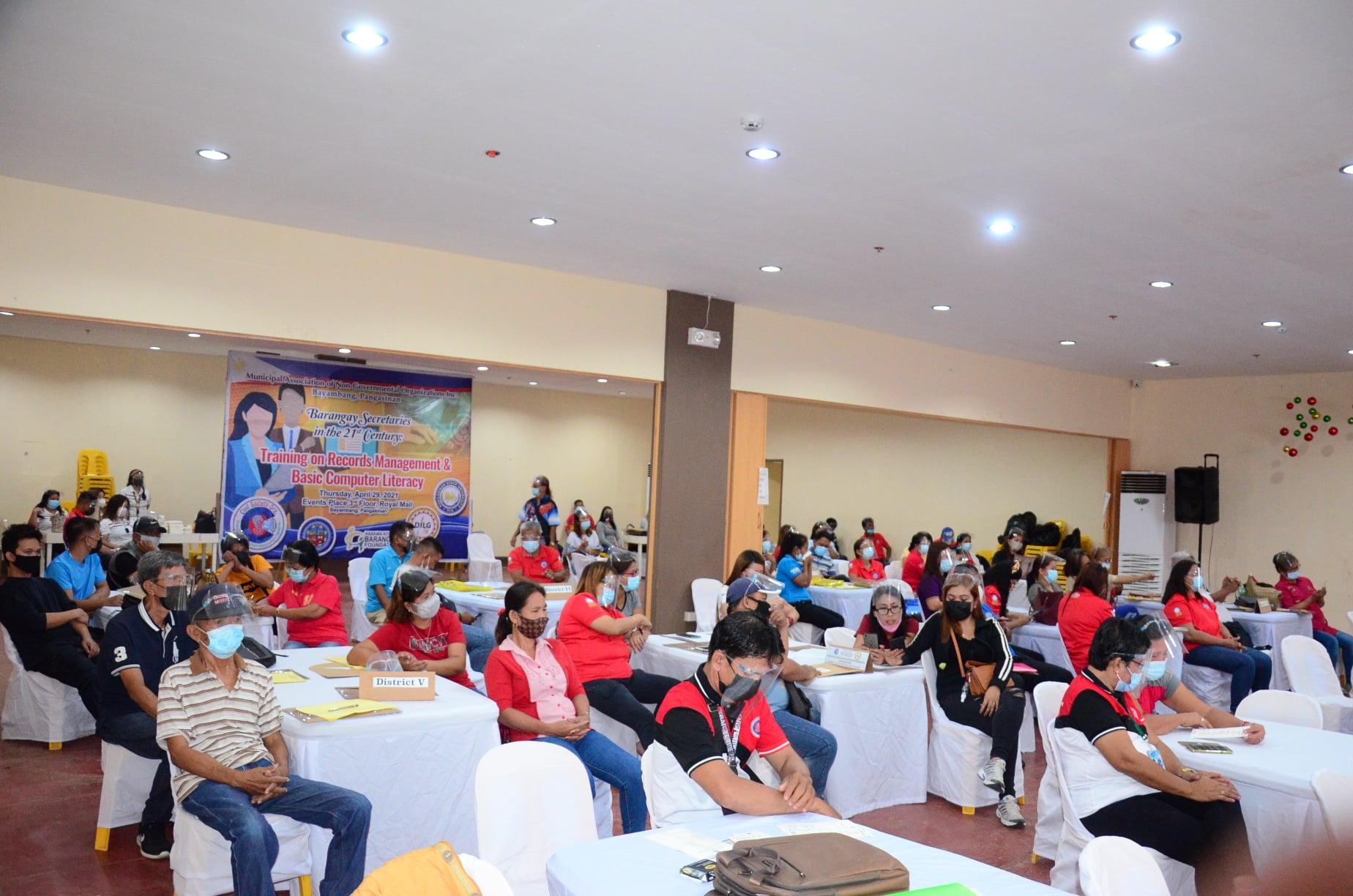 Barangay Secretaries' Training on Records Management and Basic Computer Literacy