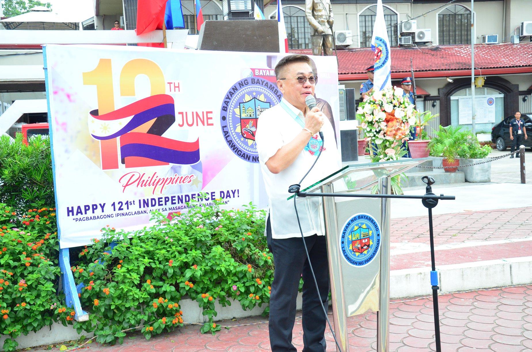 Mayor CTQ, Vice-Mayor Sabangan, Nanguna sa Pagdiriwang ng ika-121 Araw ng Kalayaan